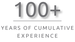 100+ years of cumulative experience