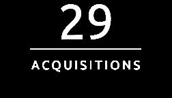 29 Acquisitions