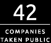 42 Companies Taken Public