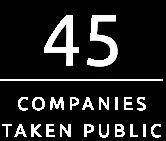 44 Companies taken public