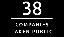 38 companies taken public