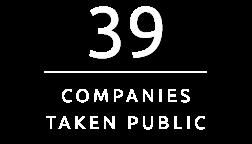 39 Cpmpanies Taken Public