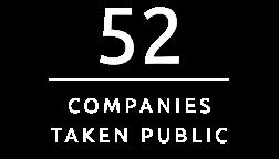 52 Companies Taken Public