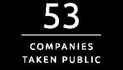53 Companies Taken Public